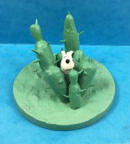 Tintin - Figurine plastique Moulinsart - Milou dans les cactus