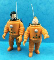 Tintin - Figurine PVC Moulinsart - Tintin et Haddock astronautes