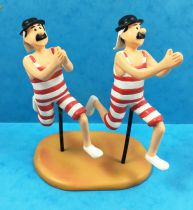 Tintin - Figurine Résine Moulinsart - Les Dupond(t) en maillot de bain (Au pays de l\'or noir)