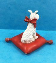 Tintin - Figurine Résine Moulinsart - Milou sur coussin rouge