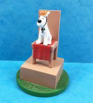 Tintin - Figurine Résine Moulinsart - Roi Milou sur le trône