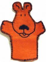 Tintin - Hand Muppet - Snowy orange baize