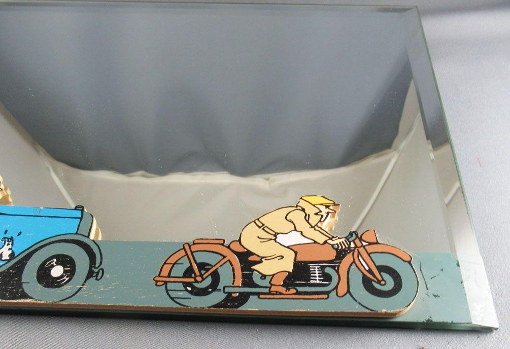 Tintin - Miroir Mural à Décor Bois Trousselier - Tintin en Amérique