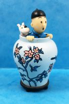Tintin - Moulinsart PVC Figure - Tintin & Snowy in the jar