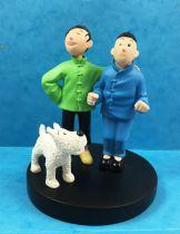 "Tintin - Moulinsart Resin Figure - Tintin and Chiang \""Brotherhood\"""