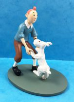 Tintin - Moulinsart Resin Figure - Tintin dancing with Snowy
