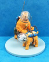 Tintin - Moulinsart Scene Collector Set - Tintin & Snowy Cosmonauts