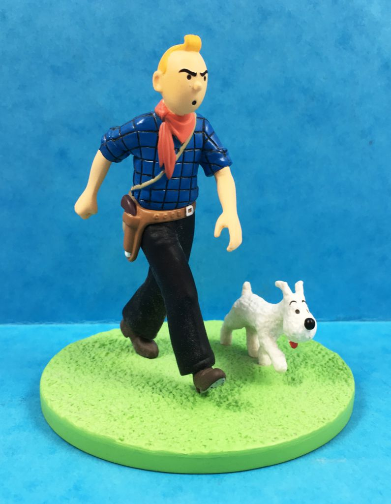 Tintin - Moulinsart Scene Collector Set - Tintin Cow-boy