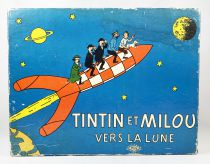Tintin - Noël Montbrison 1969 Board Game - Tintin & Snowy to the Moon
