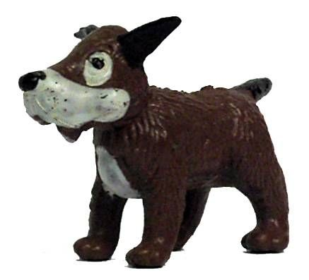 Tintin - Plastic figure Esso France - Gustav the dog