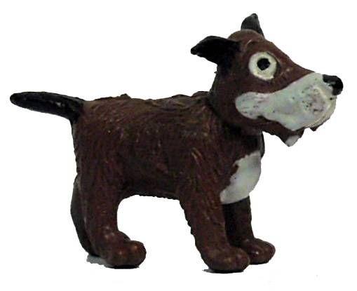 Tintin - Plastic figure Esso France Belvision - Gustav the dog