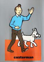 Tintin - PLV Bois Aggloméré Floqué Casterman (1.10m) - Tintin et Milou
