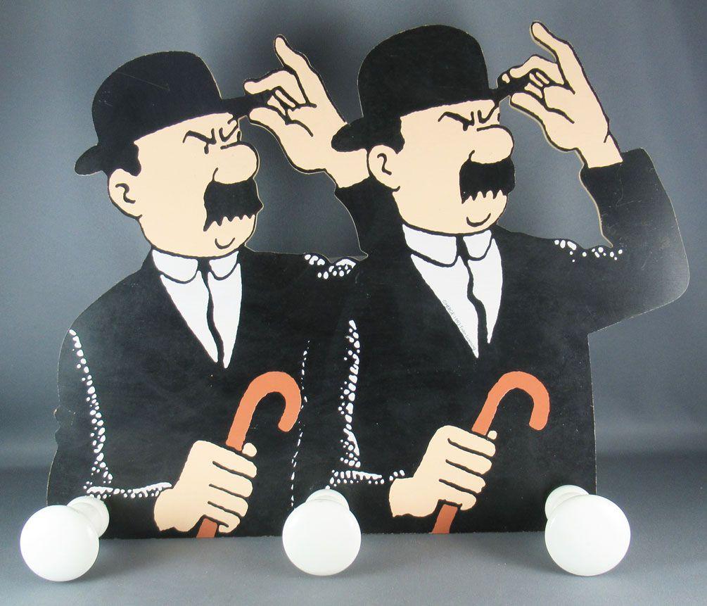 Tintin - Porte Manteau Mural Bois Trousselier - L\'ile Noire Dupond & Dupont
