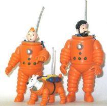 Tintin - Pvc figure Plastoy - Moulinsart Tintin & Snowy & Haddock cosmonauts