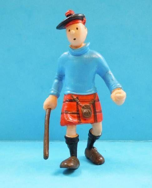 Tintin - Pvc figure Plastoy - Tintin The black island