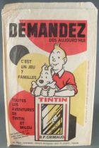 Tintin - Sachet Papier Publicitaire 14 x 22 cm - Jeu des 7 Familles Grimaud