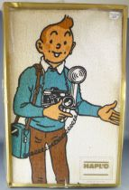 Tintin - Serviette et Gant de Toilette Hapl\'o 1978 -  Tintin & Milou Neuf Boite