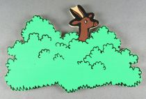 Tintin - Silhouette Bois Trousselier - Antilope Embusquée Tintin au Congo