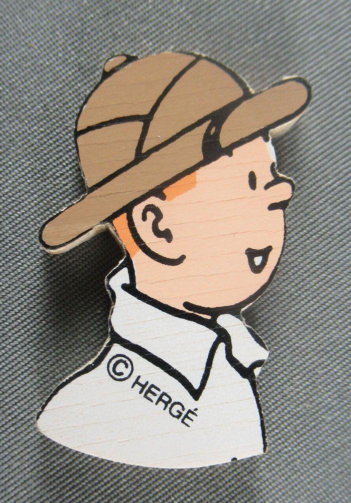 Tintin - Silhouette Bois Trousselier - Buste Tintin au Congo