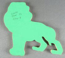 Tintin - Silhouette Bois Trousselier - Lion Tintin au Congo