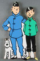 Tintin - Silhouette Bois Trousselier - Tintin Milou & Tchang Le Lotus Bleu