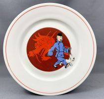 Tintin - Tables & Couleurs Porcelain Plate - The Blue Lotus