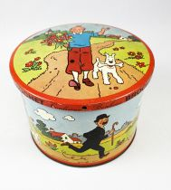 Tintin - Tin Candy box - Brochet 1965