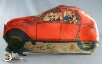 Tintin - Trousse à crayon Sari - La Citroën  2 cv Rouge des Duponts