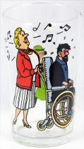 Tintin - Verre à moutarde Amora 1983 - Haddock, Tournesol et la Castafiore