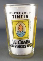 Tintin - Verre à moutarde Amora 1994 - Tintin Le Crabe aux Pinces d\'Or