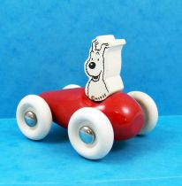 Tintin - Vilac Wooden Toy - Snowy in Car (mint in box)