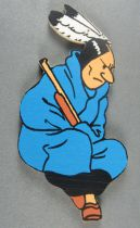 Tintin - Wooden Double Side Figures Trousselier - Indian to Hang