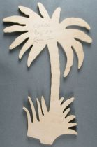 Tintin - Wooden Figures Trousselier - Palm Tree Tintin in the Congo