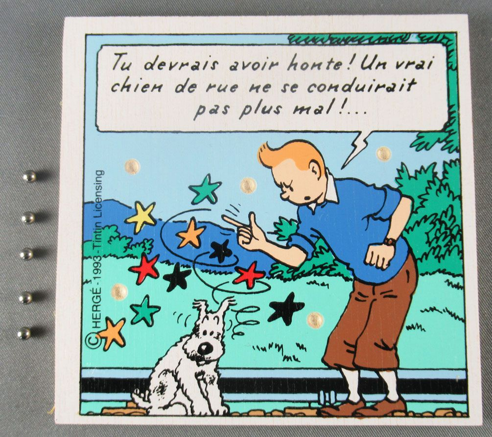Tintin - Wooden Game of Patience Trousselier - The Black Island