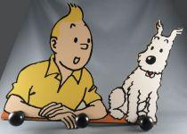 Tintin - Wooden Wall Coat Hanger Trousselier - The Shooting Star Tintin & Snowy