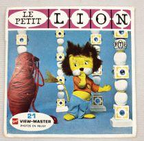 Titus le Petit Lion - View-Master (GAF) - Pochette de 3 disques (21 images stéréo) et Livret