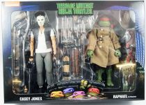 TMNT Tortues Ninja - NECA - 1990 Movie Casey Jones & Raphael in disguise
