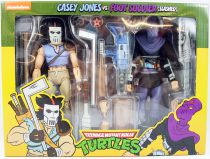 TMNT Tortues Ninja - NECA - Animated Series Casey Jones vs. Foot Soldier Slashed