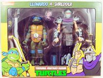 TMNT Tortues Ninja - NECA - Leonardo vs. Shredder