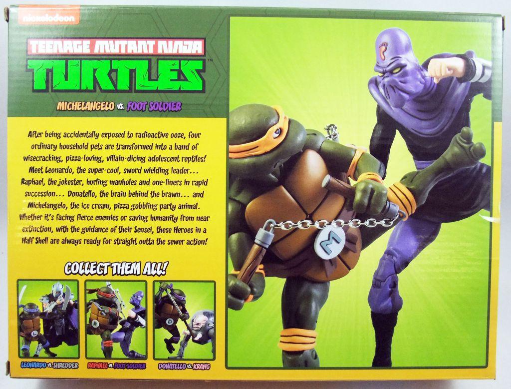 TMNT Tortues Ninja - NECA - Michelangelo vs. Foot Soldier