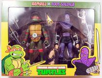 TMNT Tortues Ninja - NECA - Raphael vs. Foot Soldier