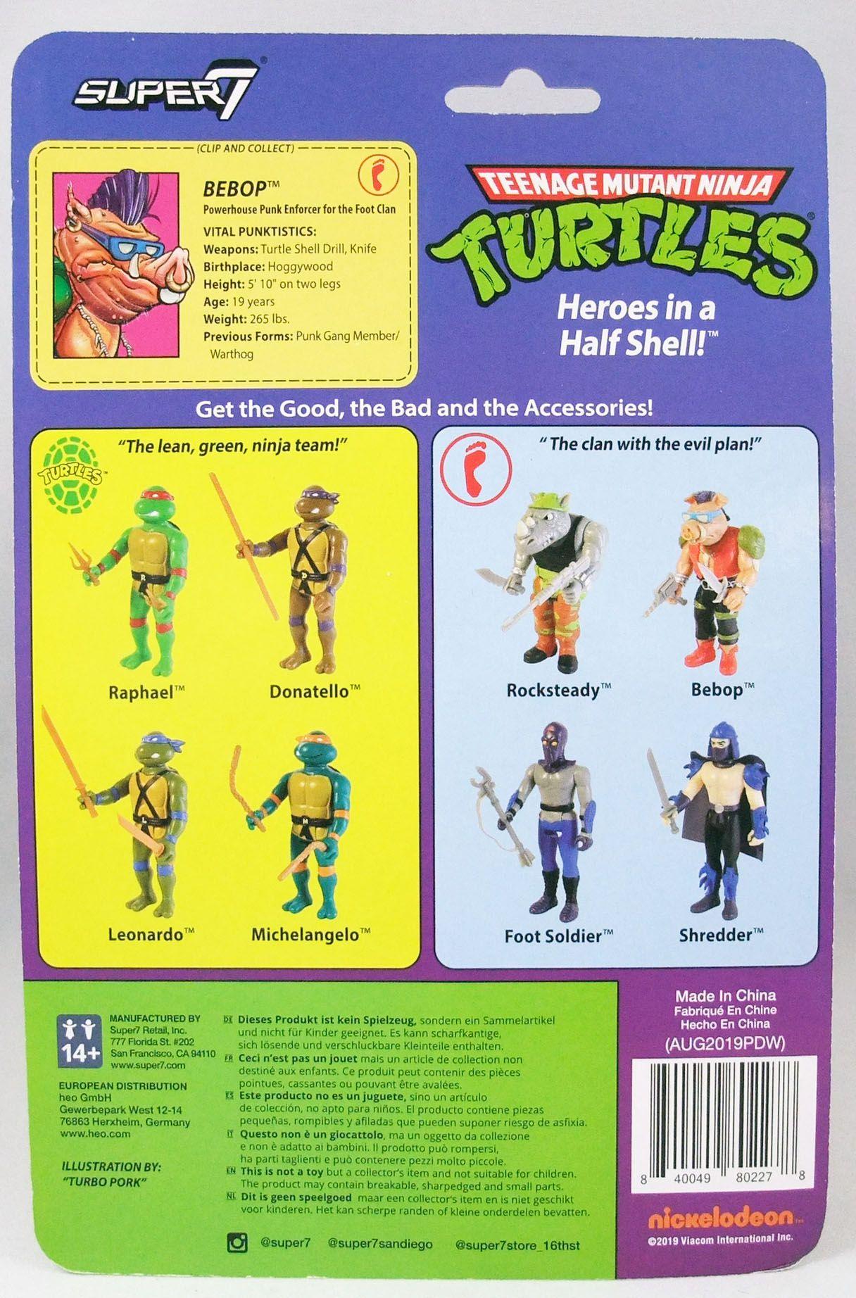 TMNT Tortues Ninja - Super7 ReAction Figures - Bebop