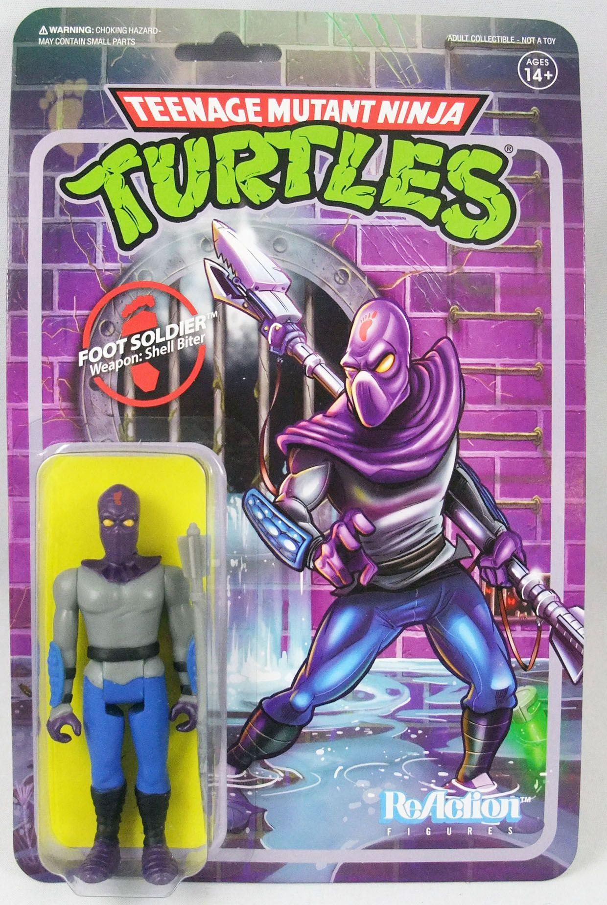 TMNT Tortues Ninja - Super7 ReAction Figures - Foot Soldier