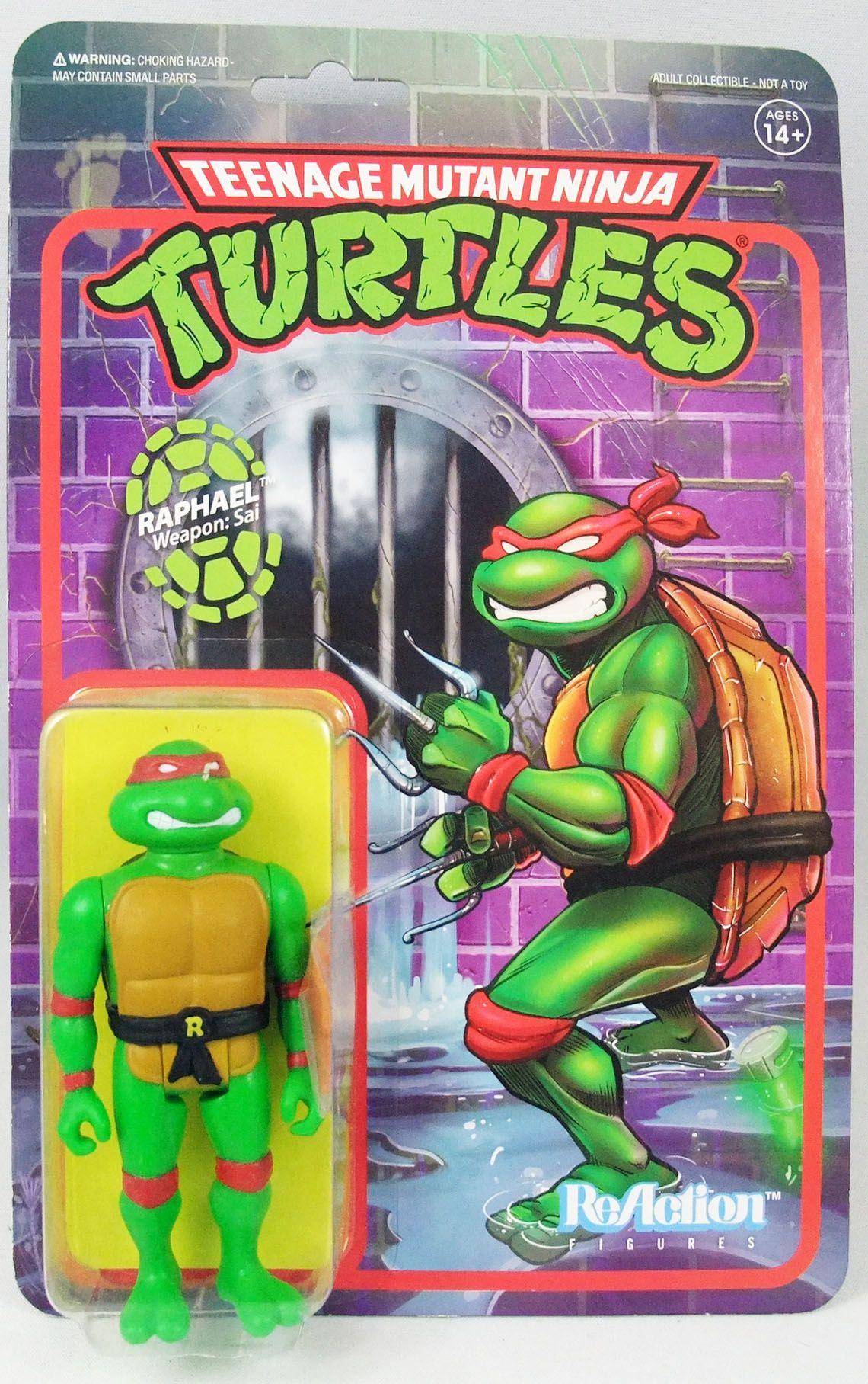 TMNT Tortues Ninja - Super7 ReAction Figures - Raphael