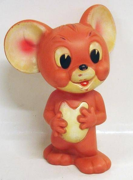 Tom & Jerry - Squeeze toy - 6\'\' Jerry (loose)