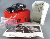 Top 43 Solido Réf 0093 Ford Escort XR3 Assurlux Monte Carlo 1983 Neuve Boite