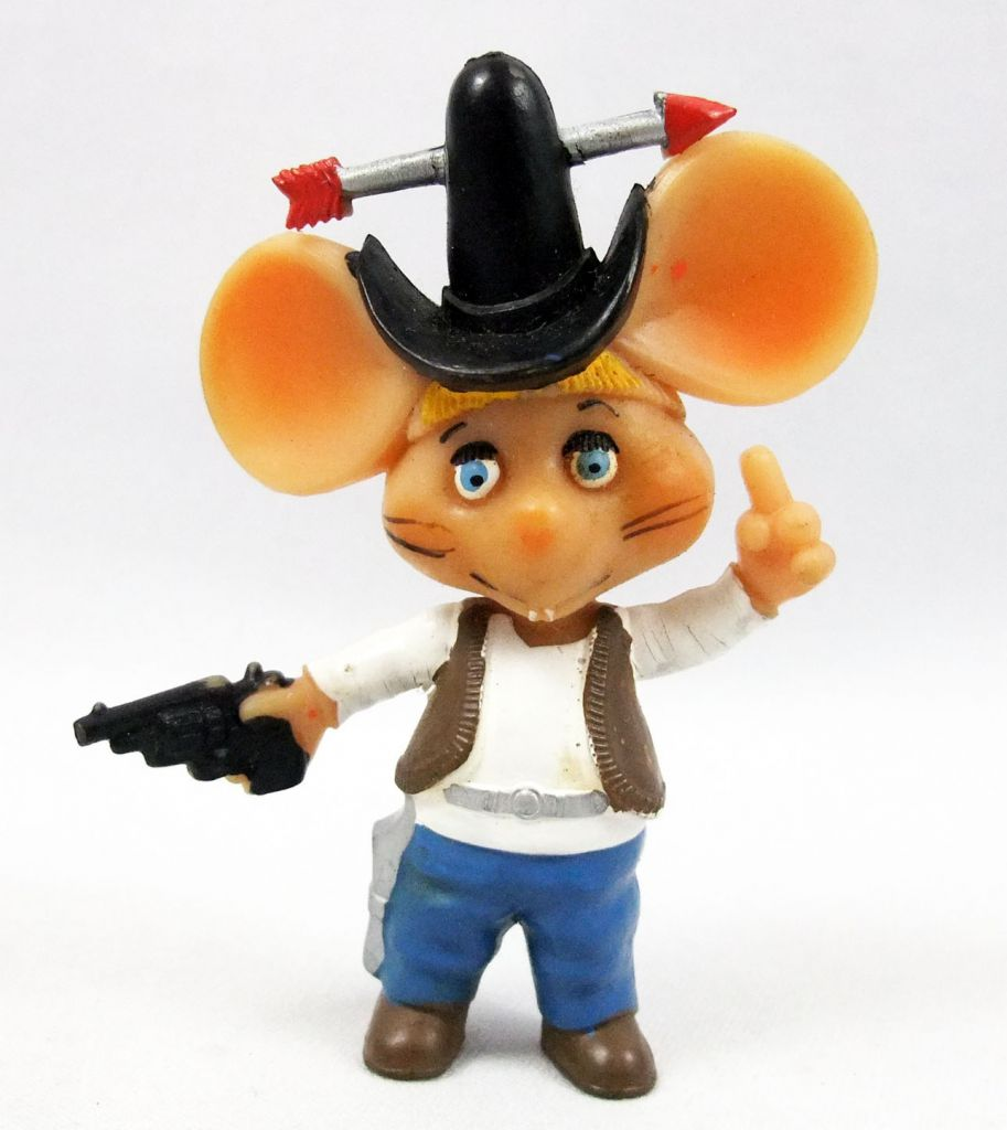 Topo Gigio - Disvenda Pvc Figure - Cow-boy Topo Gigio