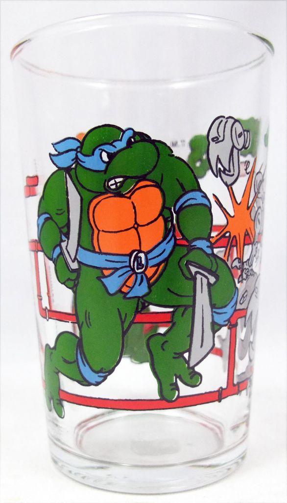 Tortues Ninja - Verre à moutarde Amora 1990 - Leo, Raph, April et les Mousers