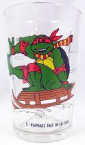 Tortues Ninja - Verre à moutarde Amora 1992 - Raphael fait de la luge