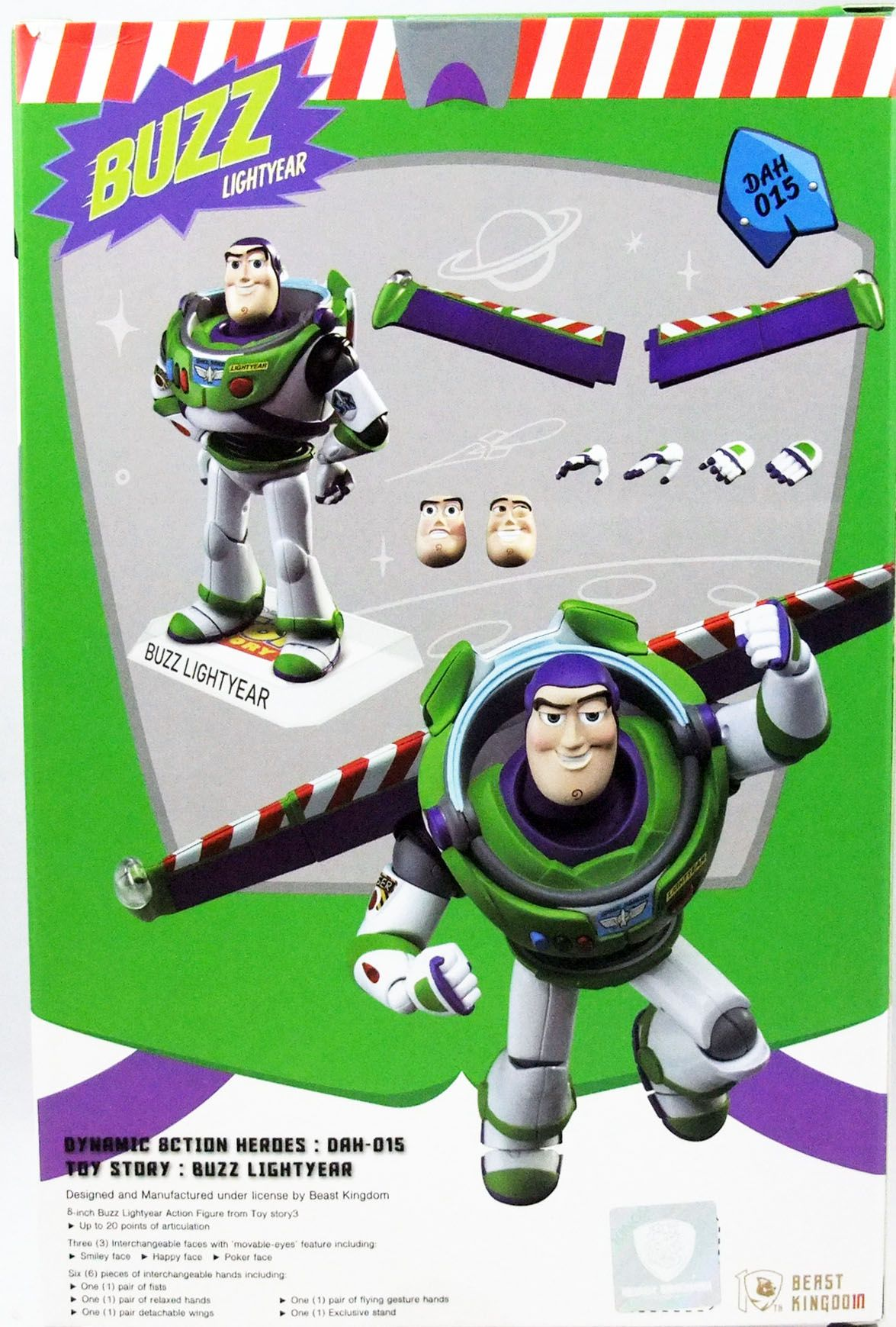 """Toy Story - Beast Kingdom - Buzz Lightyear - Dynamic Action Heroes 8\"""" Action-figure"""